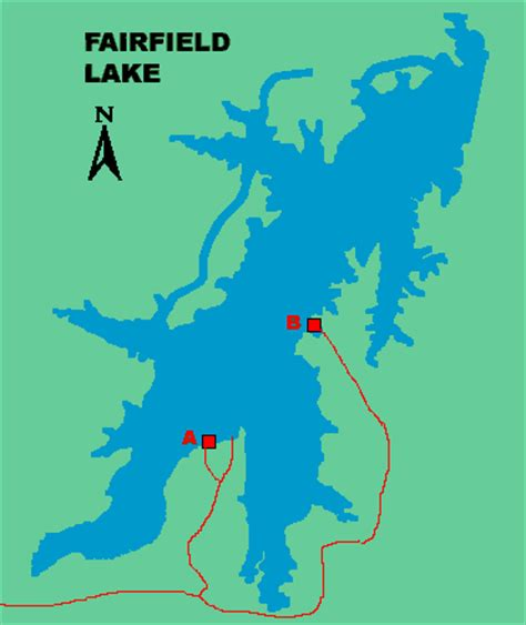 texas bank fishing map fairfield lake access