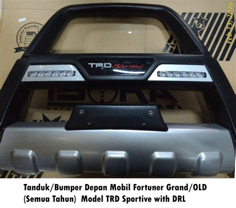 Tanduk Depan Mobil All New Fortuner Vrz Model Sportivo Led jual tanduk bumper depan fortuner grand model trd