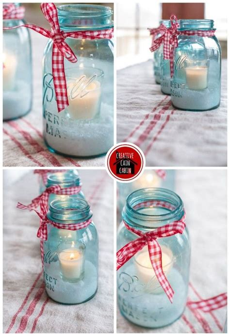 mason jar holiday centerpiece