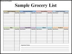 Easy Shopping List Template Grocery List Template Search Results New Calendar