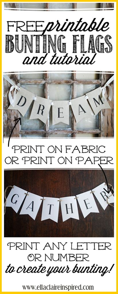 Create Wedding Banner Free by Free Printable Bunting Flags And Tutorial Ella