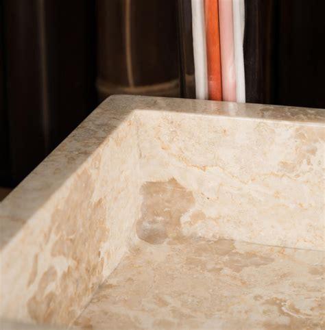 Marble Stone Sink. Rectangular Cream Basin. Ombakfurniture.com