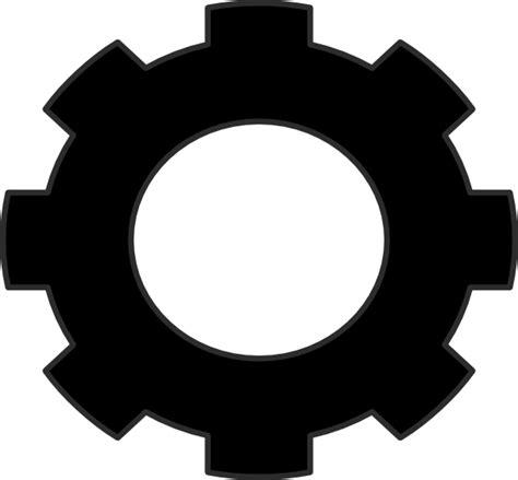 C N K Black gear clip at clker vector clip