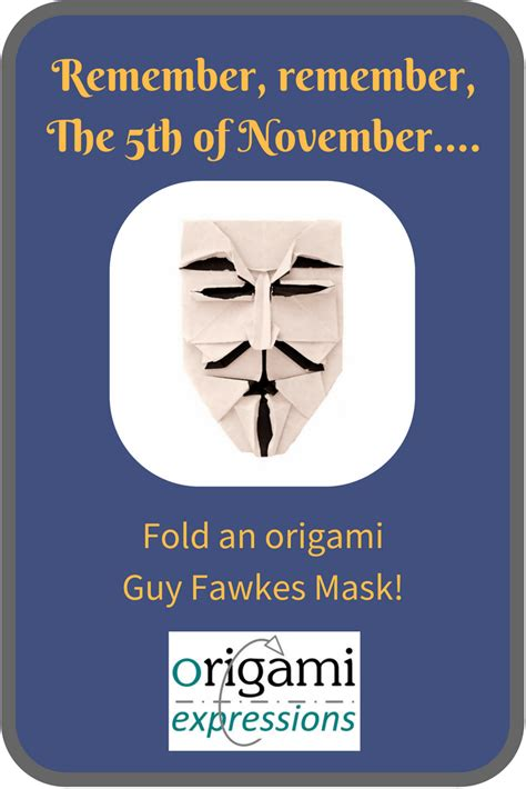 Origami Fawkes Mask - origami fawkes mask origami expressions
