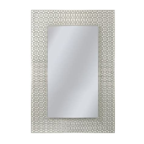 Etched Bathroom Mirrors Deco Mirror 36 In X 24 In Etched Geometric Wall Mirror 6281 The Home Depot