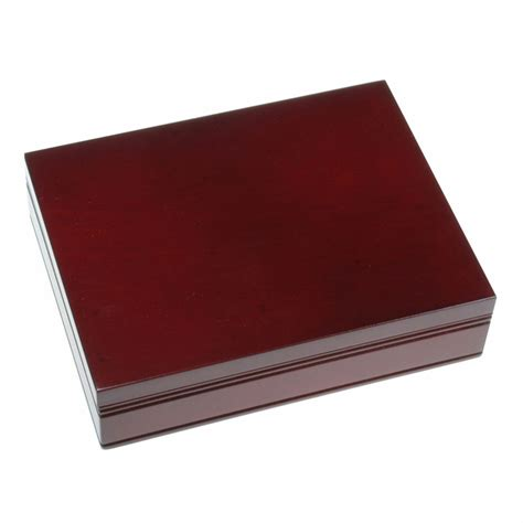 B394 Wine personalized rosewood finish card box business gifts
