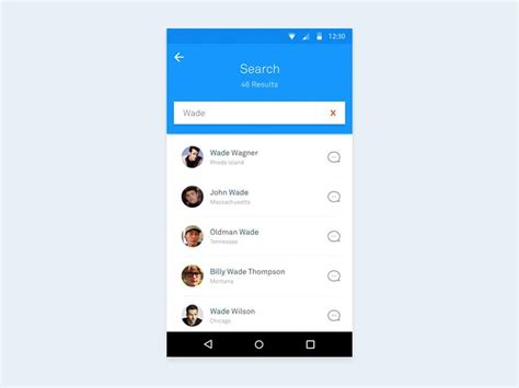 image search app android 25 material design website psd templates ui kits