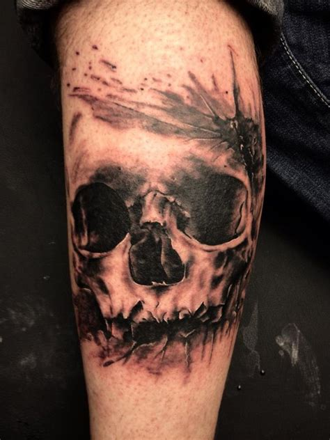 skull tattoo by carolinesalinas on deviantart
