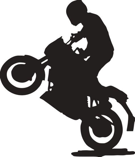 gambar vektor gratis sepeda motor belakang road