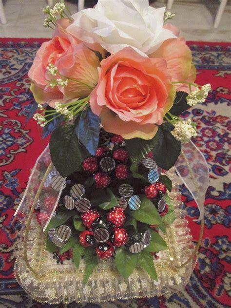 Coklat Bentuk Bunga Kecil permata hati gubahan hantaran bunga dari coklat