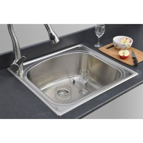 Kitchen Sink Packages Sinkware 18 Single Bowl Topmount Stainless Steel Kitchen Sink Package Cht2522 10l 1