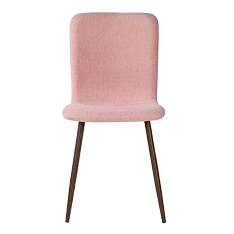 pink dining room chair cushions homycasa set of 4 eames style fabric cushion chairs