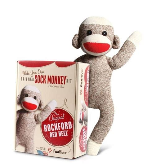 the socks used to make sock monkeys are made right here in