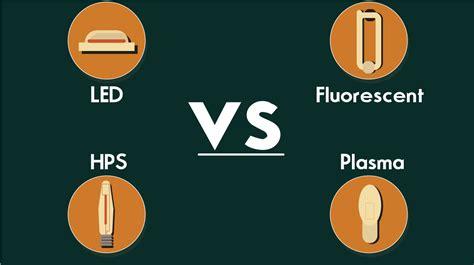 led vs fluorescent grow lights led vs hps vs fluorescent vs plasma
