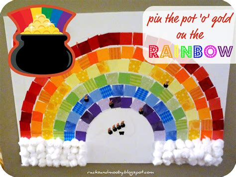 Gamis Rainbow racks and mooby pin the pot of gold on the rainbow