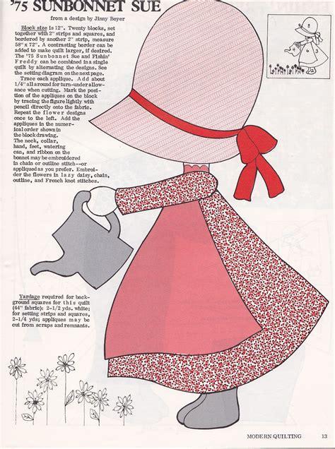 Free Sunbonnet Sue Quilt Patterns by Sunbonnet Sue On Machine Embroidery Designs