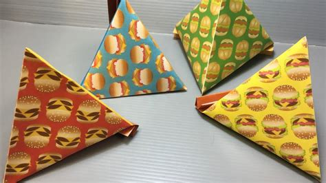 Origami Burger - origami burgers pyramid container print at home