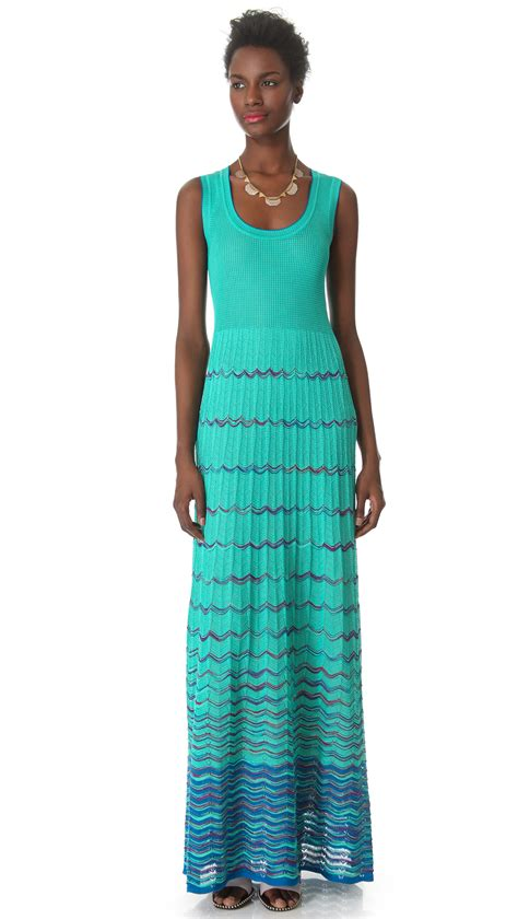 To The Bring A Missoni Bandeau Dress by M Missoni Wave Stripe Maxi Dress In Blue Lyst
