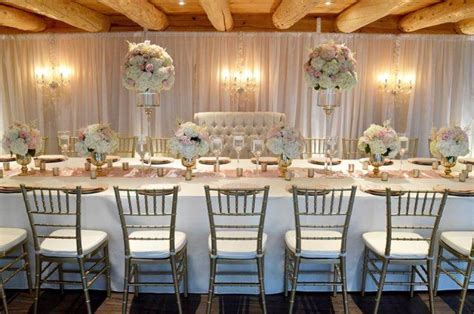 Blush Pink & Ivory Head Table   Moncton Wedding Decor