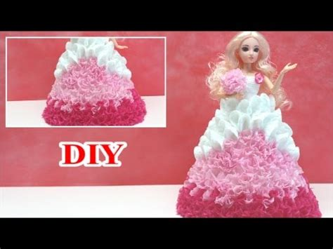 How To Make A Dress Out Of Tissue Paper - diy papercrafts princessdolldress for pink