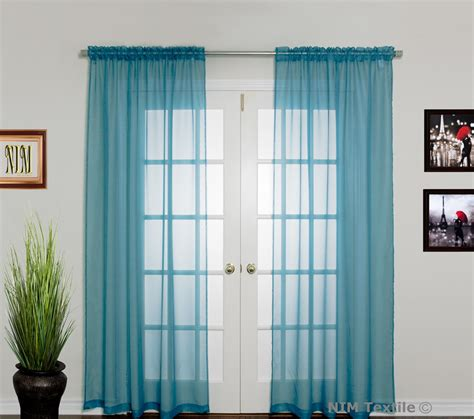 turquoise sheer curtains turquoise sheer voile curtains