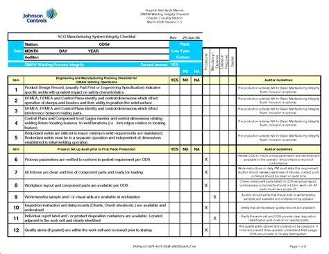 design for manufacturing xls 7 checklist template excel bookletemplate org