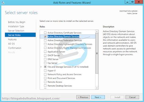 instalasi dan konfigurasi active directory di windows konfigurasi active directory di windows server 2012