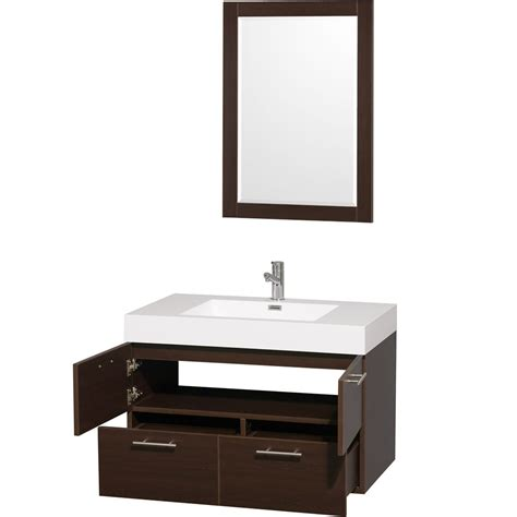 Wyndham Bathroom Vanities by 36 Quot Amare Wall Mounted Bathroom Vanity Set With Integrated