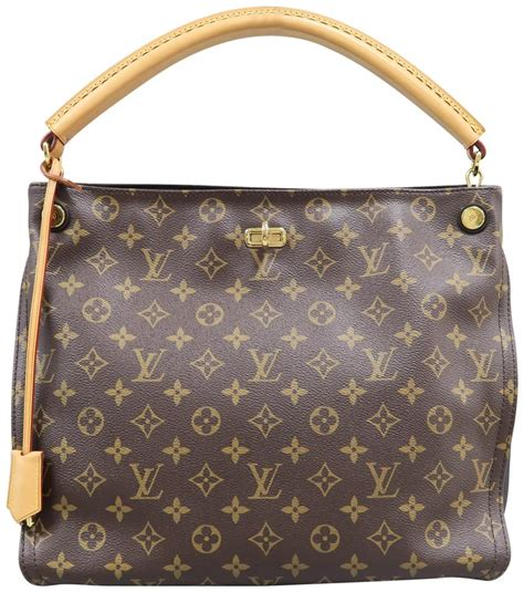 louis vuitton gaia handbag monogramred brown canvas