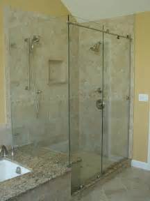 Glass Showers Doors Bypass Sliding Shower Doors Modern Glass Designs
