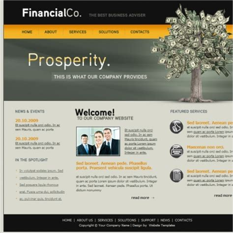 templates for finance website financial co template free website templates in css html