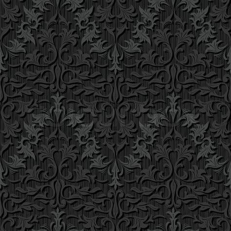 Damask Home Decor seamless black silk wallpaper pattern stock vector