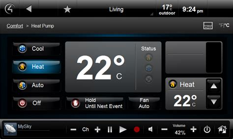 Hvac And Media Control Lumos Building Automation Home Automation Website Templates