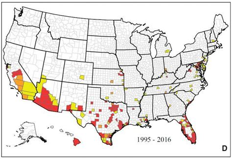 mosquito map usa new map shows where zika mosquitoes live in u s nbc news