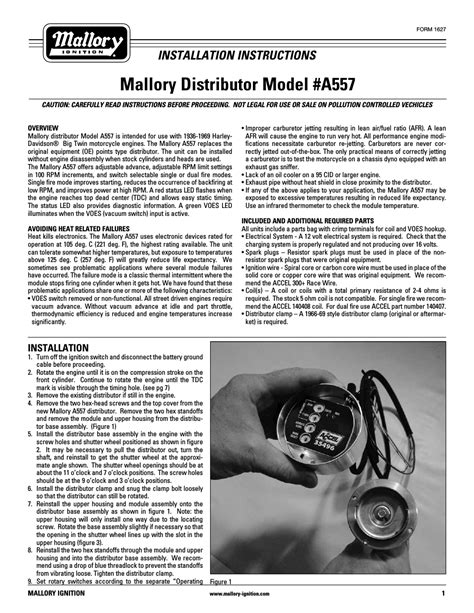 mallory ignition wiring diagram harley efcaviation