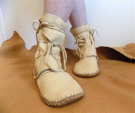 Handmade Moccasin Boots - leather moccasin boots handmade elk hide wrap boots custom