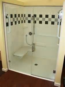 handicap shower door handicap shower with color accents trackless shower door