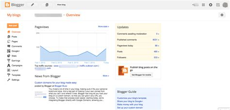 blogger dashboard blogger vs wordpress the ultimate comparison with pros
