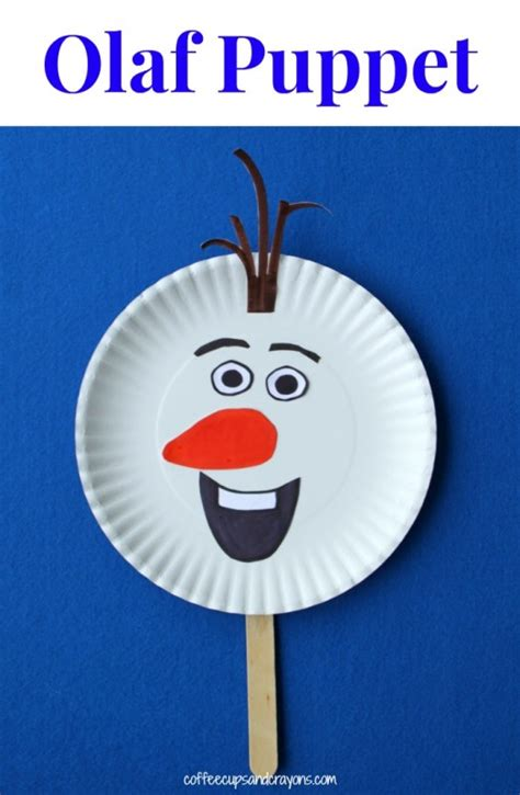 How To Make A Paper Plate Puppet - 35 frozen birthday ideas make and takes