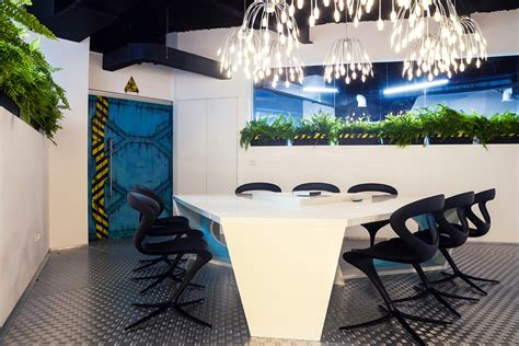 imaginative spaceship themed office   touch