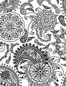 pattern coloring pages free flower patterns coloring pages