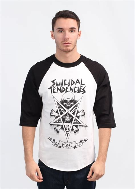 Tshirt Suicidal Tendencies Putih obey x suicidal tendencies possessed t shirt white black
