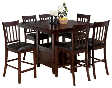 jofran tessa chianti 7 counter dining room set with