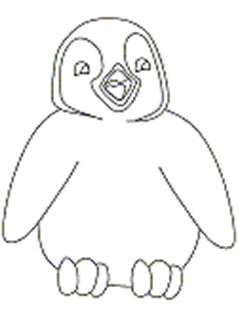 penguin chick coloring page chick coloring pages