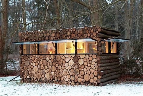 log cabin wood prefab contemporary log studio inhabitat green design