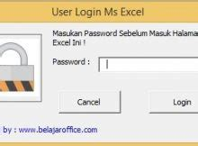 membuat form login pada excel excel macro archives belajar office