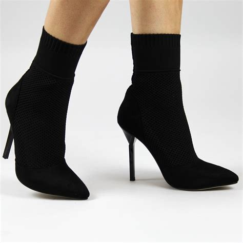 socks for high heels black sock fit stilettos open toe front forever fever