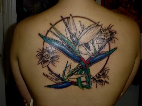 bird and flower tattoo designs hawaiian flower tattoos