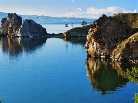 lake with an island mystery wallpaper olkhon island in lake baikal photos and free walls
