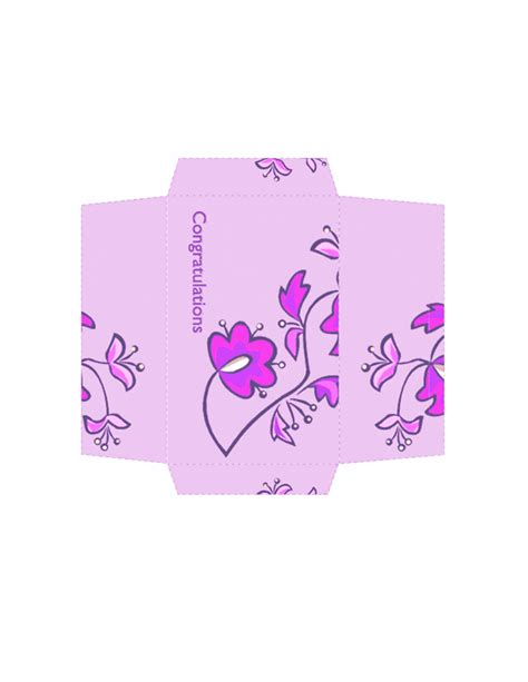 download money envelope floral design free envelope
